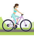 girl on bike vector image