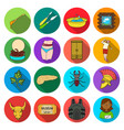 history army business and other web icon in flat vector image