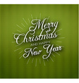 Christmas calligraphy on knitted pattern vector image vector image