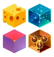 Textures for Platformers Icons 3d Set vector image