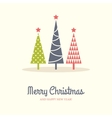 Three Christmas Trees vector image vector image