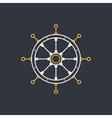 Ships Wheel Line Style Design vector image