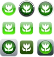 Macro green app icons vector image