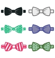 color bow ties icons set vector image