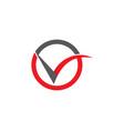 beauty v letter logo template design vector image