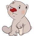 cute white polar bear cub cartoon vector image