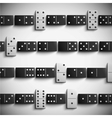 Domino background vector image