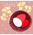 Easter eggs in nest vector image