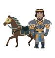 fantasy knight character vector image