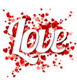 love typography vector image