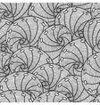 Marine seamless pattern with stylized seashells vector image