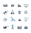 Media and News Icons Set vector image