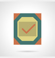 metal quality sign flat color icon vector image
