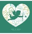 mysterious green garden shooting cupid vector image