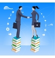 Partnership based on knowledge business concept vector image