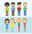 set avatars of men and women of different vector image