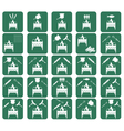 Set of brazier icons vector image