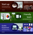 Set of office banners in flat style design Call vector image