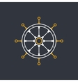 Ships Wheel Line Style Design vector image