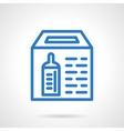 Simple blue line donation box icon vector image