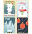 Winter postcards set vector image