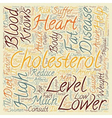 Keep Your Cholesterol Down text background vector image