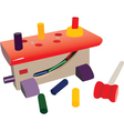 Toy workbench vector image vector image