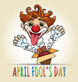 happy fools day vector image