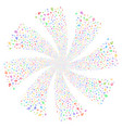 music notes fireworks swirl flower vector image