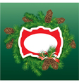 Christmas and New Year background - fir tree vector image vector image