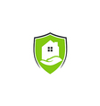 house protection shield care logo vector image