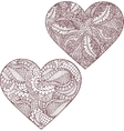 Gorgeous silhouettes of heart vector image