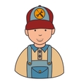 Repair mechanic man icon vector image