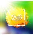 Brazil flag colors background with 2016 text vector image