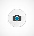 camera icon 2 colored vector image