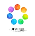 Colorful set isolated watercolor paint vector image