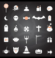 halloween icons set chalkboard vector image