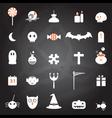 halloween icons set chalkboard vector image
