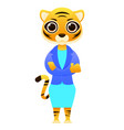 modern business woman tiger vector image