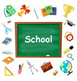 school supplies symbols isolated vector image