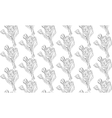 Seamless pattern black and white tulips flowers vector image