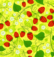 Seamless strawberry pattern vector image