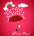 Valentine rainbow hearts vector image