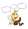 A smiling bee with empty callouts vector image