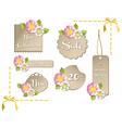 Happy spring sale tag collection vector image vector image