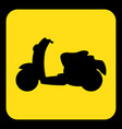 yellow black information sign - scooter icon vector image
