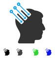 neuro interface flat icon