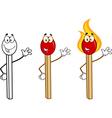 Cartoon matches vector image