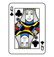 Stylized Queen of Clubs vector image vector image