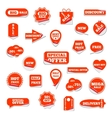 Set of bright labels vector image